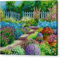Flowers Of The Garden Acrylic Print by Jean-Marc Janiaczyk