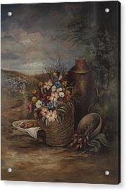 Flowers Of The Holyland Acrylic Print by Nancy Gorr