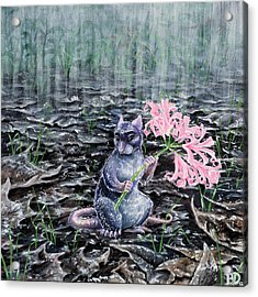 Flowers On A Rainy Day Acrylic Print