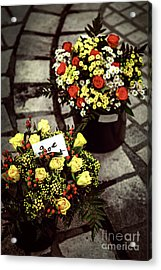 Flowers On The Market In France Acrylic Print by Elena Elisseeva