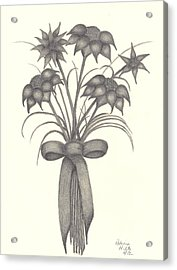 Acrylic Print featuring the drawing Flowers by Patricia Hiltz