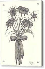 Flowers Acrylic Print by Patricia Hiltz