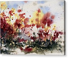 Flowers Acrylic Print by Sam Sidders