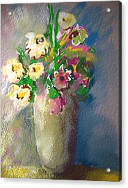 Flowers Acrylic Print by Synnove Pettersen
