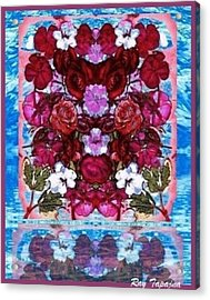 Flowers Touching Souls Acrylic Print by Ray Tapajna
