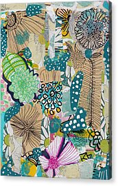 Flowes In An Ocean Forest Acrylic Print