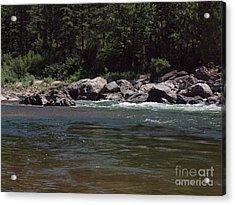 Flowing Acrylic Print by Christian Jansen