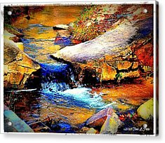 Acrylic Print featuring the photograph Flowing Creek by Tara Potts