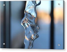 Flowing Ice Acrylic Print