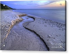 Flowing Into Lake Michigan Acrylic Print