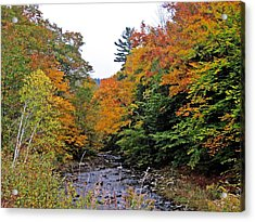 Flowing Into October Acrylic Print