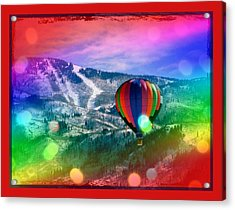 Flowing Rainbow Balloon Acrylic Print by Tracie Howard