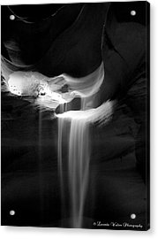 Acrylic Print featuring the photograph Flowing Sand In Antelope Canyon by Lucinda Walter