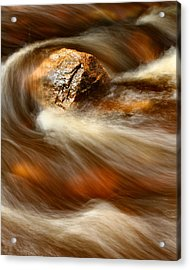 Flowing Stream Acrylic Print by Acadia Photography