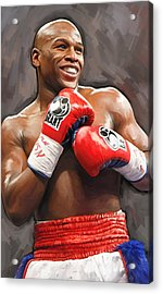 Acrylic Print featuring the painting Floyd Mayweather Artwork by Sheraz A