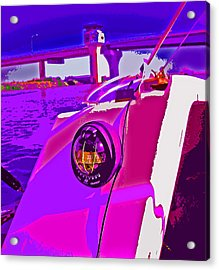 Floyd Pink And Purple Acrylic Print