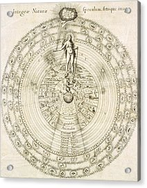 Fludd's Cosmology, 1617 Acrylic Print by Science Photo Library