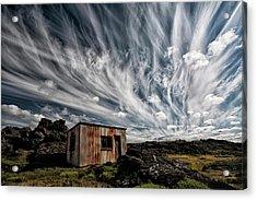 Fluffy Sky Acrylic Print