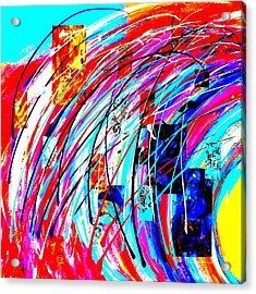 Fluid Motion Pop Art Acrylic Print