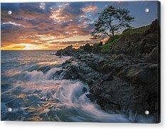 Fluid Motion Acrylic Print by Hawaii  Fine Art Photography
