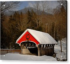 Flume Covered Bridge Acrylic Print