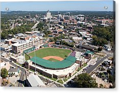 Fluor Field At The West End Greenville Acrylic Print by Bill Cobb