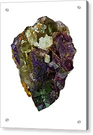 Fluorite Crystal Specimen Acrylic Print by Natural History Museum, London/science Photo Library