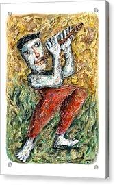Flute Player Acrylic Print by Nalidsa Sukprasert
