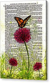 Acrylic Print featuring the painting Flutter By by Melissa Sherbon