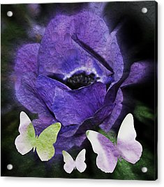 Acrylic Print featuring the photograph Flutterbys by Amanda Eberly-Kudamik