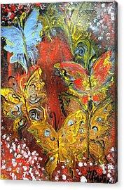 Fluttery Butterflies Acrylic Print by Evelina Popilian