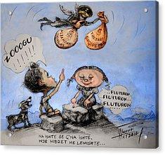 Fluturon...fluturon...fluturon..zogu Acrylic Print by Ylli Haruni