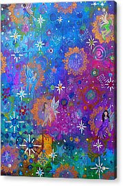 Fly Away To Fairy Day Acrylic Print by The Art With A Heart By Charlotte Phillips