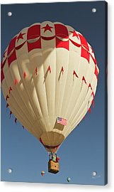 Fly-by At  The Albuquerque Hot Air Acrylic Print by William Sutton