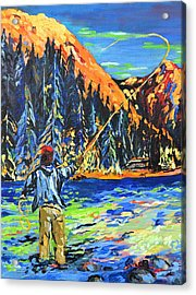 Fly Fisherman Acrylic Print