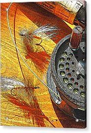 Fly Fisherman's Table Digital Art Acrylic Print