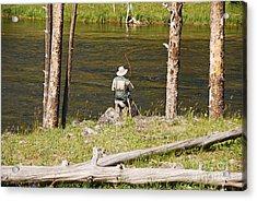 Fly Fishing Acrylic Print by Mary Carol Story