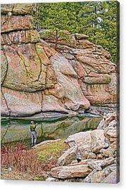 Fly Fishing Platte River Colorado Acrylic Print