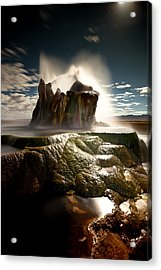 Fly Geyser @ Night Acrylic Print by Deryk Baumgaertner