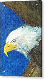 Acrylic Print featuring the painting Fly Like The Eagle by Jane  See