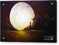 Fly Me To The Moon Acrylic Print by David Kacey