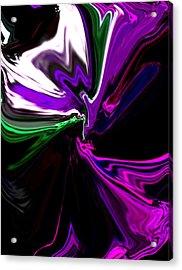 Purple Rain Homage To Prince Original Abstract Art Painting Acrylic Print