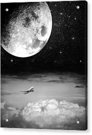 Fly Me To The Moon Acrylic Print by Semmick Photo