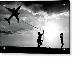 Fly My Plane Acrylic Print by