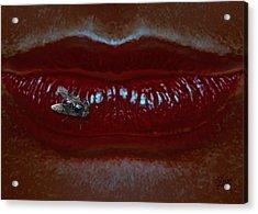 Fly On Lip Acrylic Print