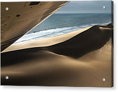 Acrylic Print featuring the photograph Fly Over The Namib by Juergen Klust