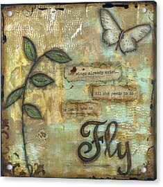 Fly Acrylic Print by Shawn Petite