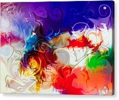 Acrylic Print featuring the painting Fly With Me by Omaste Witkowski