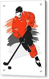 Flyers Shadow Player2 Acrylic Print by Joe Hamilton