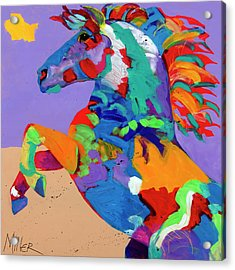 Flyin Hooves Acrylic Print by Tracy Miller
